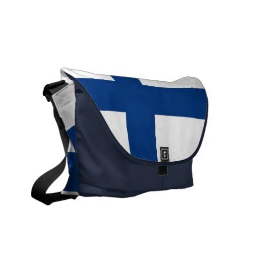 Finland Flag Rickshaw Messenger Bag
