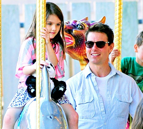 Tom Cruise celebrate his daughter Suri's 7th birthday early, as he's been promoting his new movie, Oblivion, around the globe since mid-March 2013
