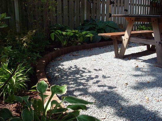 Crushed Stone With Brick Edging