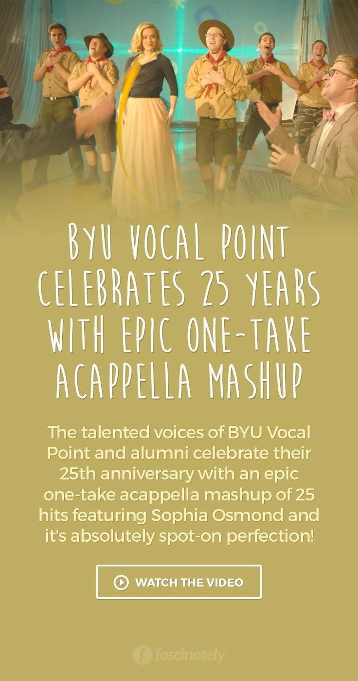 BYU Vocal Point Celebrates 25 Years with Epic One-Take Acappella Mashup