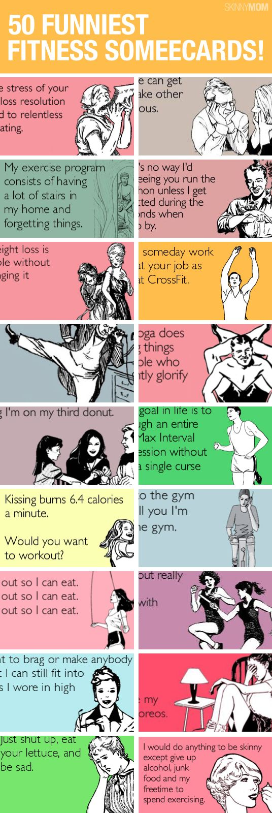 Laughed so hard at some of these!! The yoga one and the one about working out at work are totally me!
