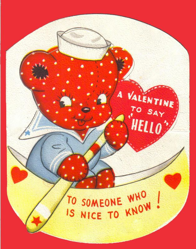 166 best images about Vintage valentine Cards Bears – Teddy Bear Valentines Day Card