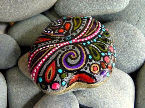 Dance of Joy / Painted Stone / Sandi Pike Foundas via Etsy
