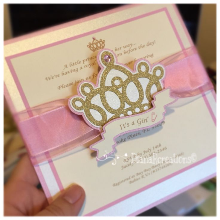 unique homemade baby shower invitation ideas%0A Cute Princess Invitation   New addition Pink  Gold and Ivory    dianarcreations  Girls Party InvitationsPrincess InvitationsBaby Shower