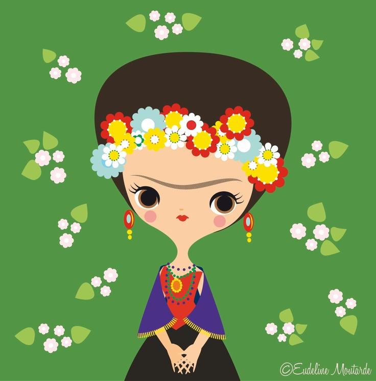 Frida Kahlo by Eudeline Moutarde
