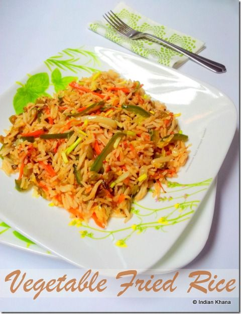 Vegetable Fried Rice ~ Indo-Chinese Recipe