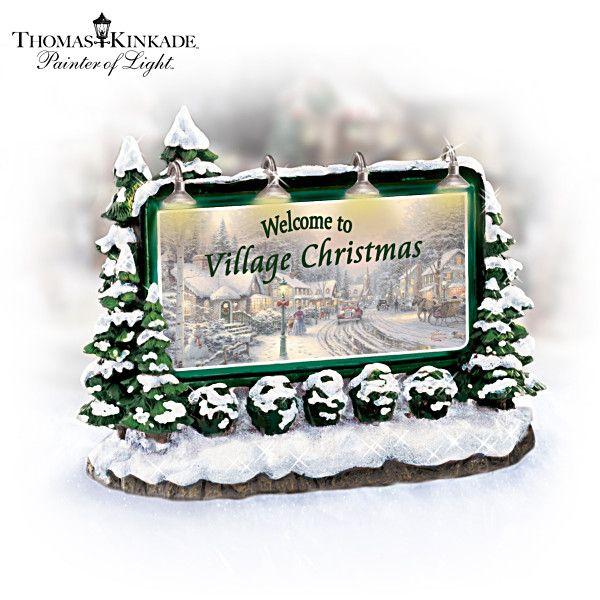 Thomas Kinkade Village Christmas Accessories Collection Xmas Villages Pinterest