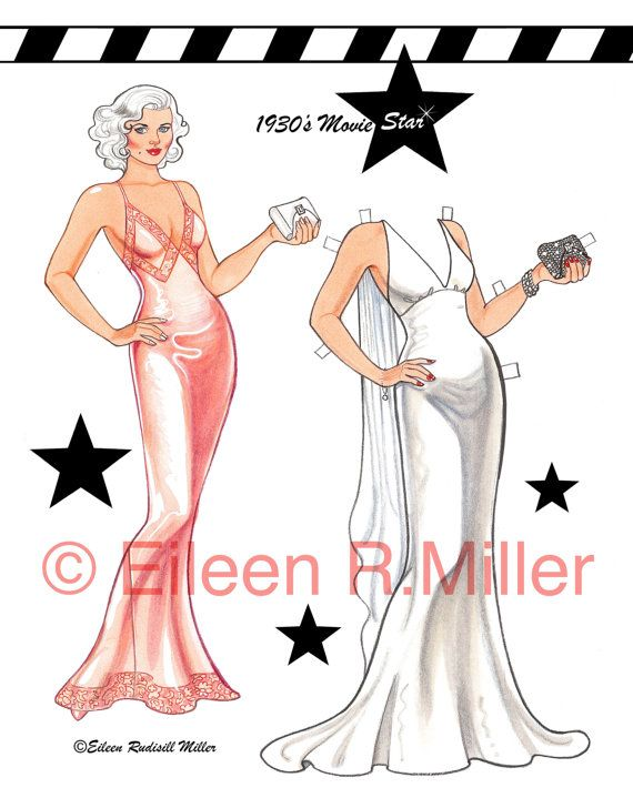1930's Movie Star Paper Doll