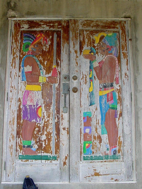Tropical painted doors--photo by Karl Gercens