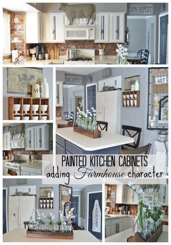 Painted Kitchen Cabinets Adding Farmhouse Character