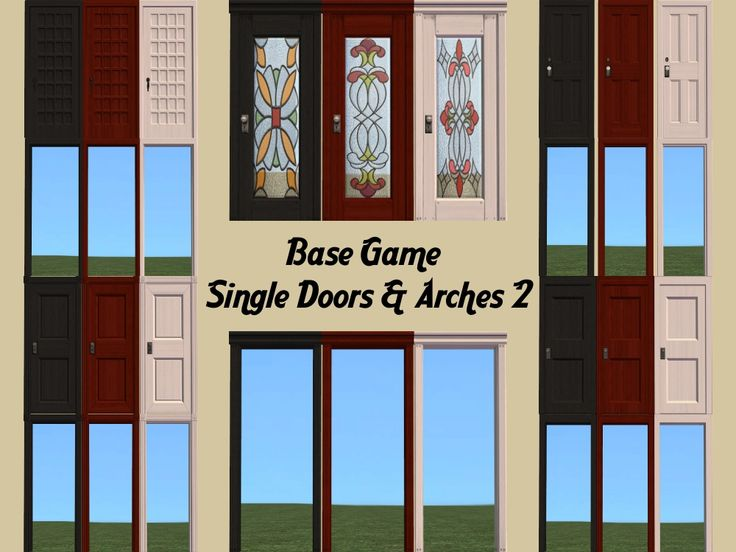 Mod The Sims - Base Game Single Doors - Part 2