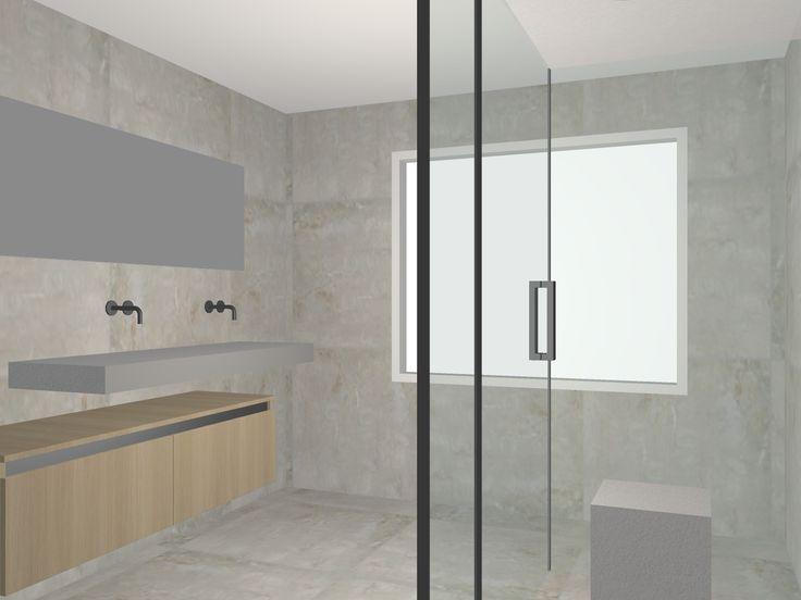 Badkamer Elst, ontwerp.