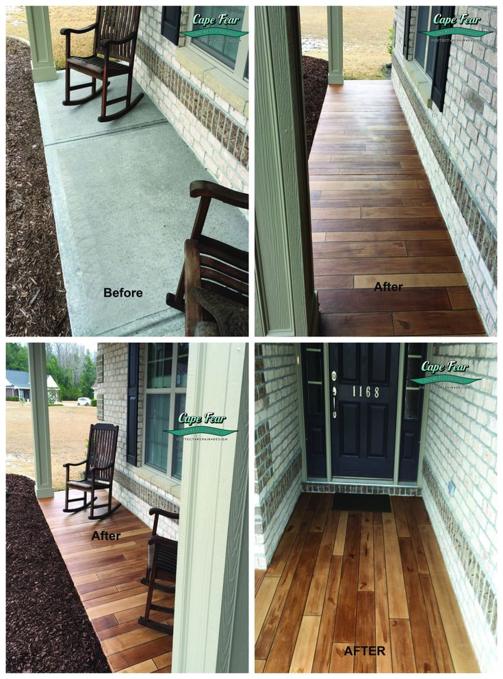 Porch Concrete Resurfacing Wilmington NC/// Ideas For Stained Concrete