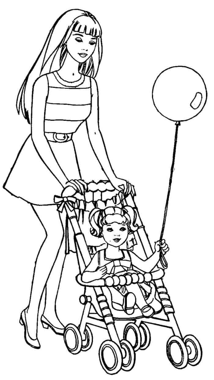 Barbie Chelsea Coloring Pages Barbie Coloring Pages Mermaid Coloring Pages Cartoon Coloring Pages