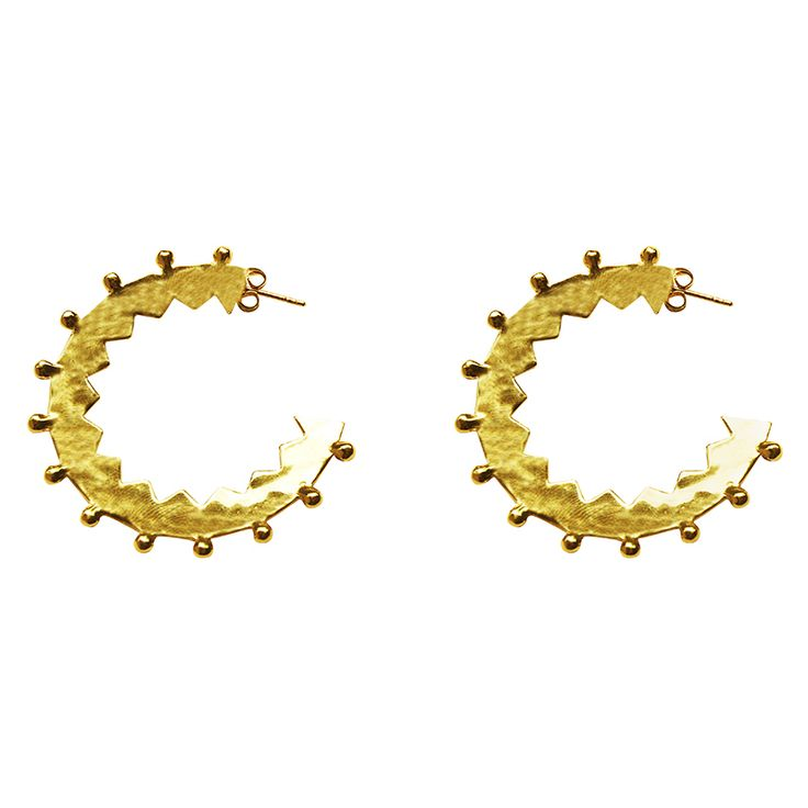 Maya Large Hoop Earrings in 18 KT Yellow Gold. Shop the full collection at www.murkani.com.au