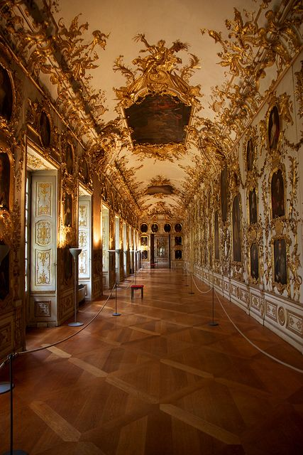 The Ancestral Gallery at the Munich Residenz, Germany (by jiuguangw).