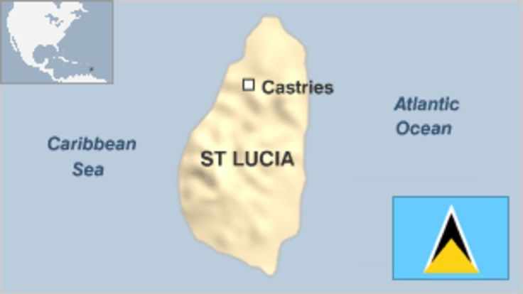 Provides overview of St Lucia, including key events and facts