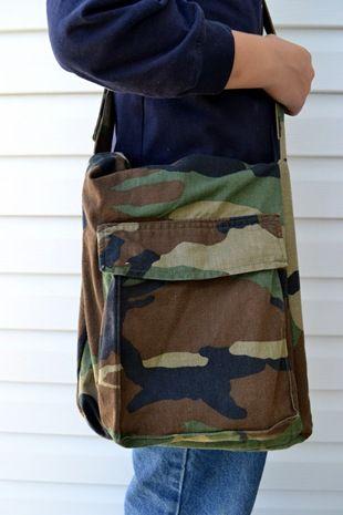satchel from cargo pants
