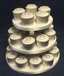 25th wedding anniversary decorations | ... / 25th WEDDING ANNIVERSARY cup cake toppers / decorations | eBay