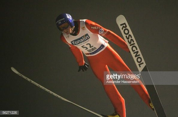 Tami Kiuru of Finland in action during the FIS World Cup official training and qualification on November 24 2005 in Kuusamo Finland