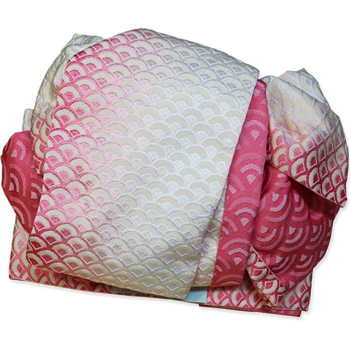 【楽天市場】作り帯 浴衣帯 両面小袋半幅帯 ぼかし波柄 ピンク:北陸のきもの問屋 越前屋