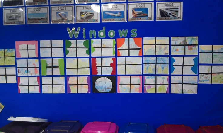 Windows art inspired by Jeannie Baker book Window