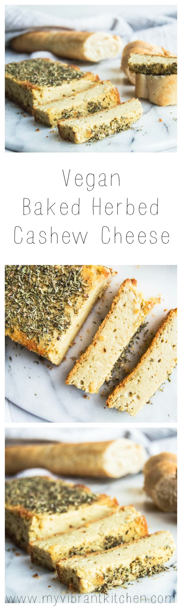 My Vibrant Kitchen | Vegan Baked Herbed Cashew Cheese | myvibrantkitchen.com