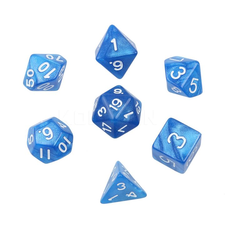 2017 New Marble Effect Dice Set with d4 d6 d8 d10 d10 d12 d20 7pc/lot Multi-Sided Dice Set for Funny Board Games Digital Dice