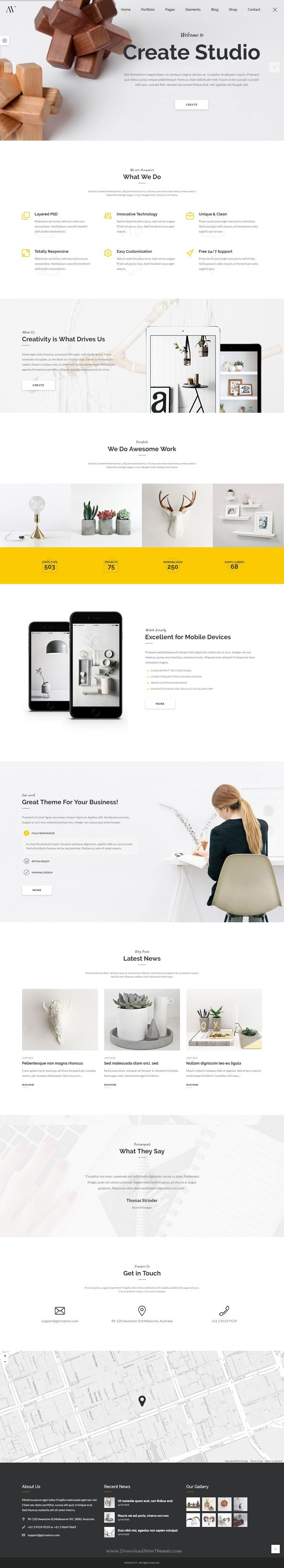 Avonmore is a creative and powerful multipurpose bootstrap template which is suitable for any type of Agency, #Portfolio, Design studio, Shop, Blog and much more