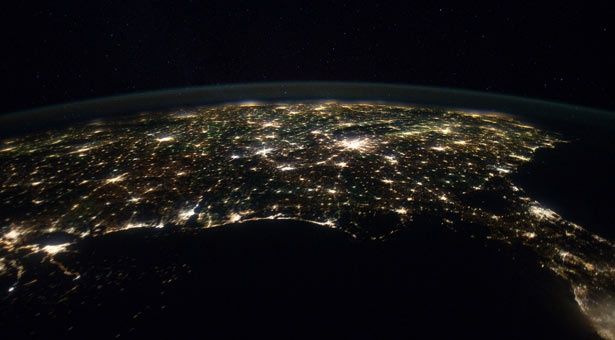 Photo of the U.S. taken from the International Space Station.: Spaces, Space Station, Favorite Places, Eastern Two Thirds, Outer Space, Photo