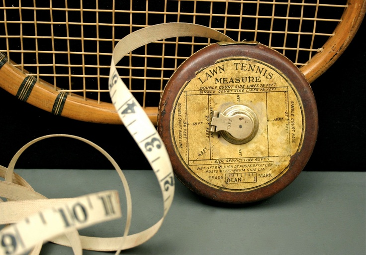 Vintage Lawn Tennis Tape Measure, Made by Dean of London, via Etsy FBvintage