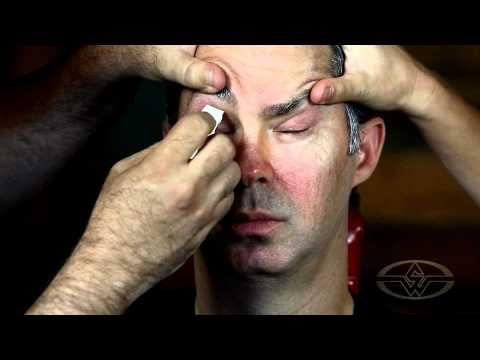 Special Makeup Effects Tutorial - Age Makeup - Stan Winston School Special Makeup Effects Tutorial Makeup Artist: Barney Burman. Latex and crepe hair at temple