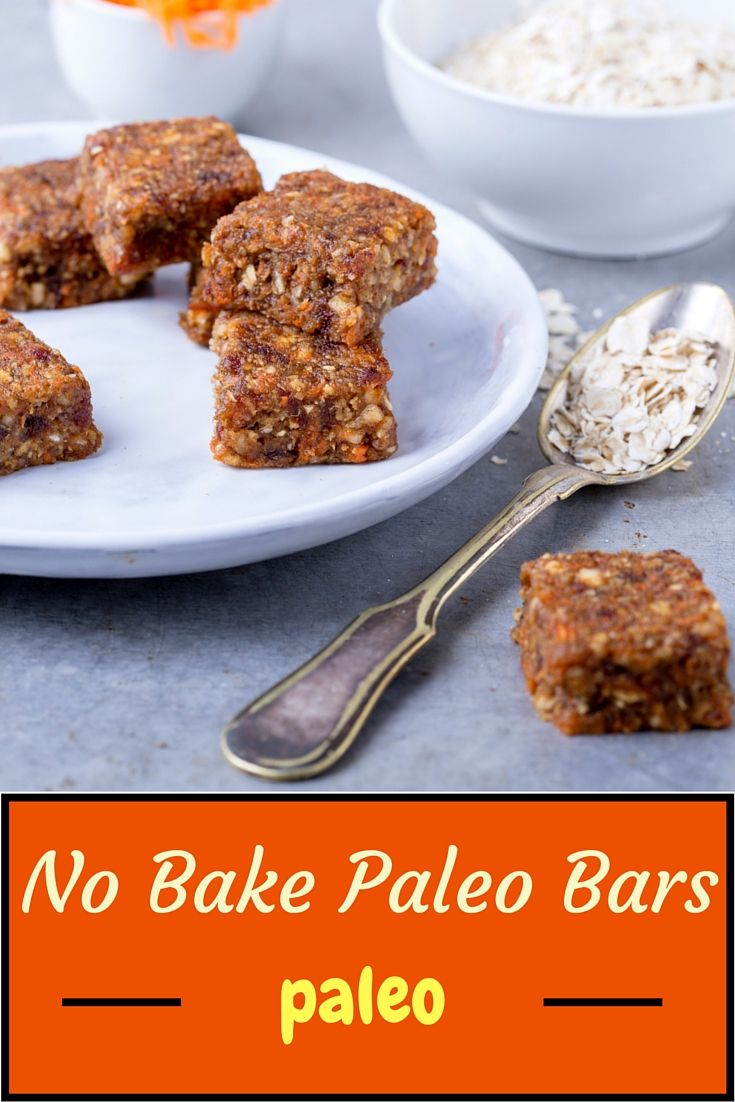 Looking for delicious Paleo snack recipes? These no bake paleo bars taste…