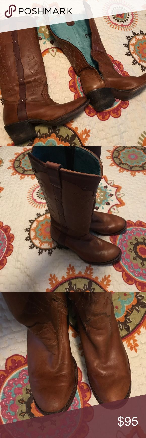 Corral Vintage boots Corral Vintage boots size 8M Nice corral boots with normal wear on the toes, zipper works perfect Corral Shoes Combat & Moto Boots