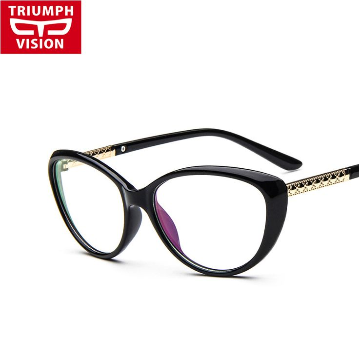 TRIUMPH VISION Vintage Cat Eye Clear Lens Glasses Frame Women Myopia Optical Eyewear Frames Female  Spectacle Frame Eyeglasses