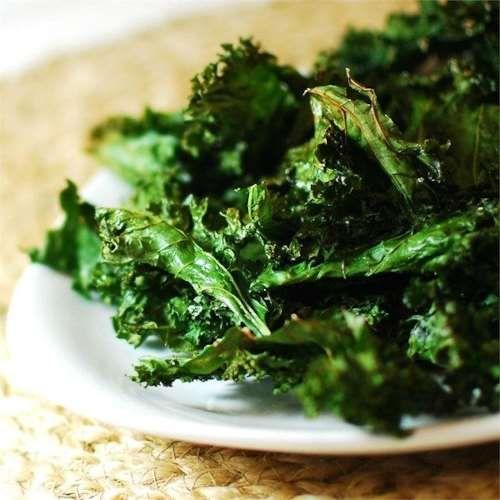 Healthy kale crisps