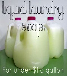 How To Make Liquid Laundry Detergent Fro $1 A Gallon
