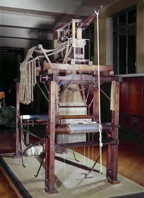 Lewis Paul and John Wyatt patented their Roller Spinning machine in 1738.   They invented the method of roller spinning that was later developed by Richard Arkwright to such great effect.