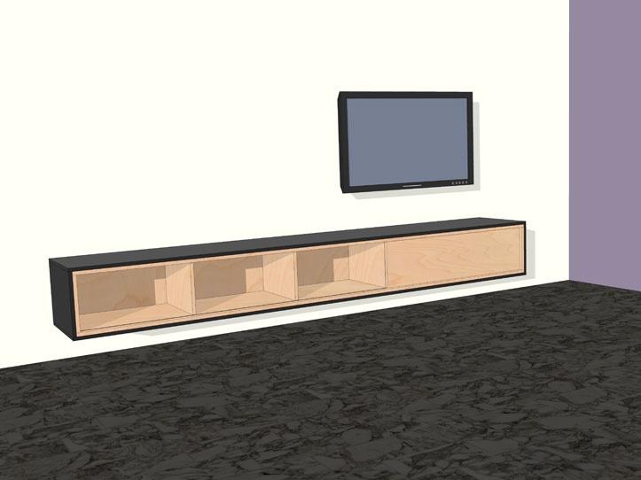 Werktekening bouwtekening TV meubel Arturo xxl #this i want for the livingroom #tv cabinet
