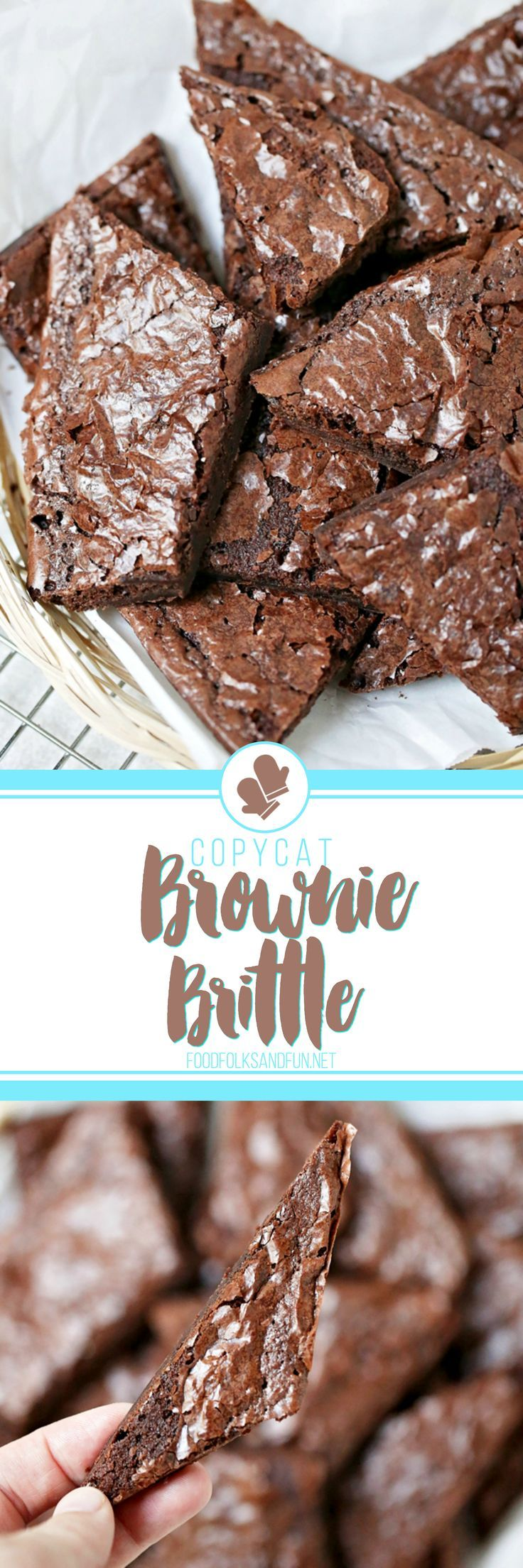 Copycat Brownie Brittle Recipe that's made from a box mix for a quick and easy treat! I bet you have all of the ingredients in your pantry right now!