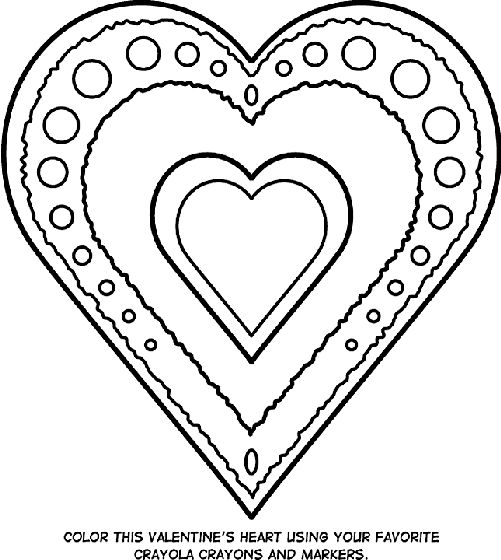 valentines heart coloring page - Crayola Crayon Coloring Pages