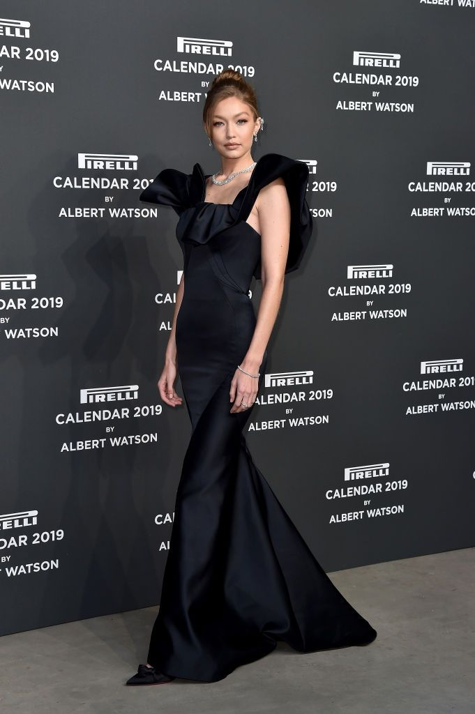 Gigi Hadid Walks The Red Carpet Ahead Of The 2019 Pirelli Calendar