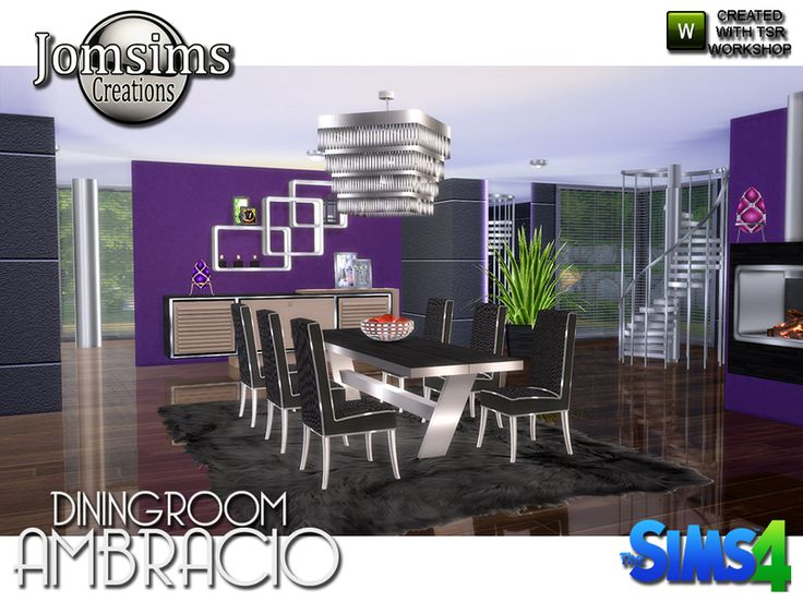 For This New Dining Room Modernity And Comfort Are In Order Found TSR SetsSims 4Room