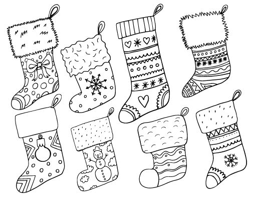 85 Coloring Pages For Xmas Stockings