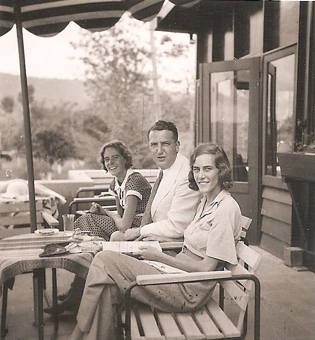 My great-aunt, and grandparents in 1935 Bandoeng