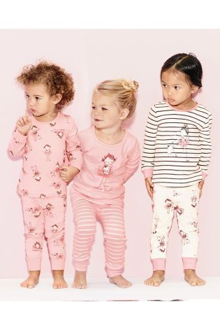Buy Three Pack Snuggle Fit Ballerina Pyjamas (12mths-8yrs) from the Next UK online shop