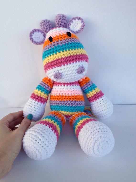 Crochet Giraffe Doll by YouHadMeAtCrochet