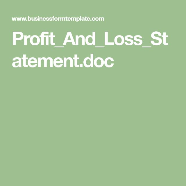 Profit_And_Loss_Statement.doc