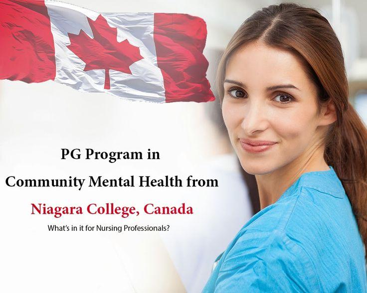 A PG Program in Community Mental Health from Niagara College, Canada