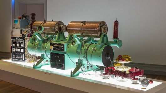 Artist Chris Henschke's latest piece inspired by particle physics machinery i...